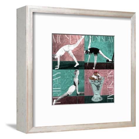 Weekly Workout: Monday, Wednesday, Friday, Sundae--Framed Art Print