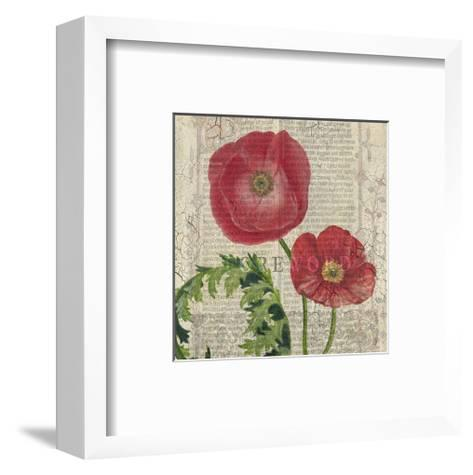 Poppy Pages Square II-Louise Montillio-Framed Art Print