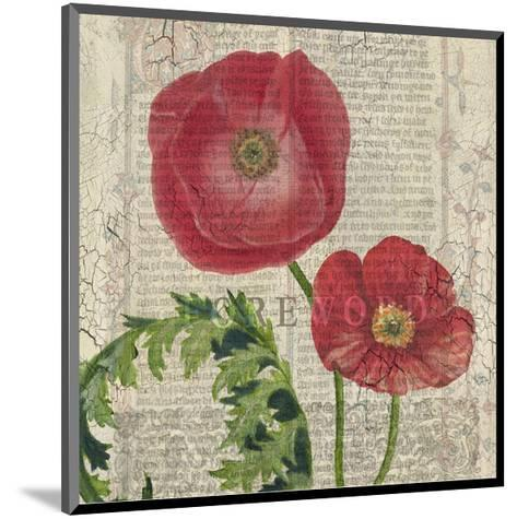 Poppy Pages Square II-Louise Montillio-Mounted Art Print