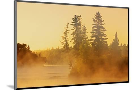 Fog on Bird River-Mike Grandmaison-Mounted Art Print