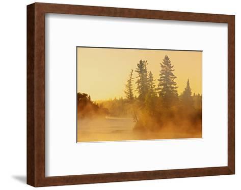 Fog on Bird River-Mike Grandmaison-Framed Art Print