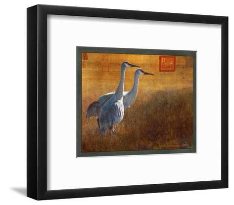 Walking Cranes-Chris Vest-Framed Art Print