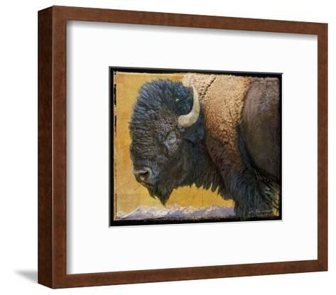 Bison II-Chris Vest-Framed Art Print