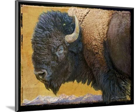 Bison II-Chris Vest-Mounted Art Print