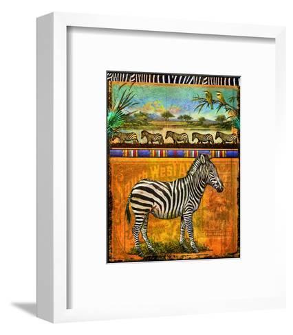 Zebra I-Chris Vest-Framed Art Print