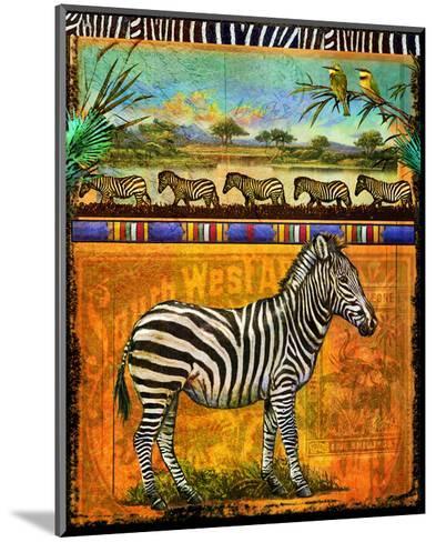 Zebra I-Chris Vest-Mounted Art Print