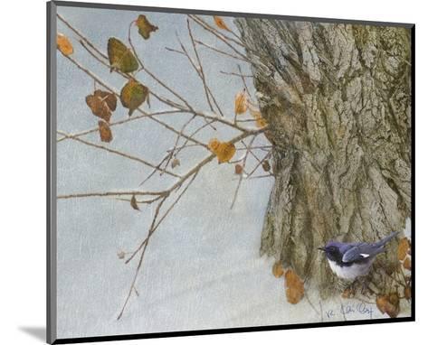 Late Snow Warbler-Chris Vest-Mounted Art Print