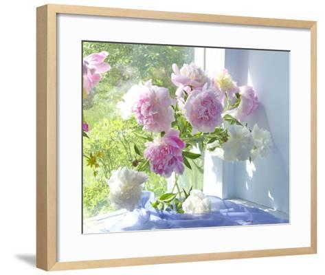 Peony Bouquet-Judy Stalus-Framed Art Print