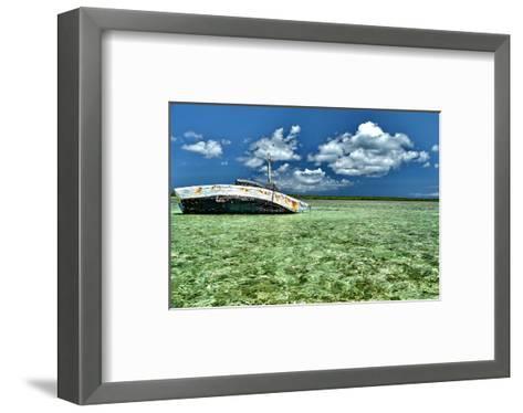 Ship Recked in Paradise-Jan Michael Ringlever-Framed Art Print