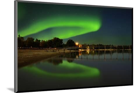 Northern Lights Reflected in Lake Winnipeg II-Mike Grandmaison-Mounted Art Print