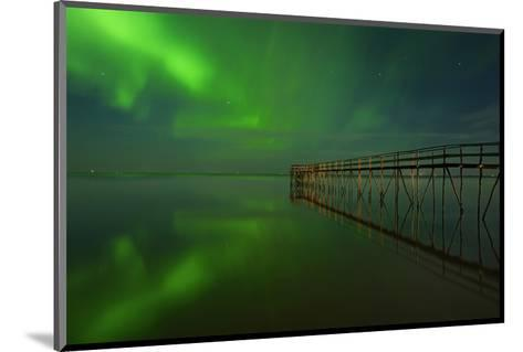 Northern Lights Reflected in Lake Winnipeg IV-Mike Grandmaison-Mounted Art Print