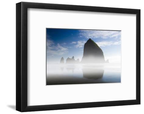 Cannon Beach in the Mist-Richard Desmarais-Framed Art Print
