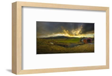 Covered Bridge-Richard Desmarais-Framed Art Print