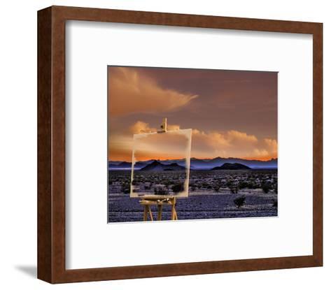 Easel in Nevada Sunset-Richard Desmarais-Framed Art Print