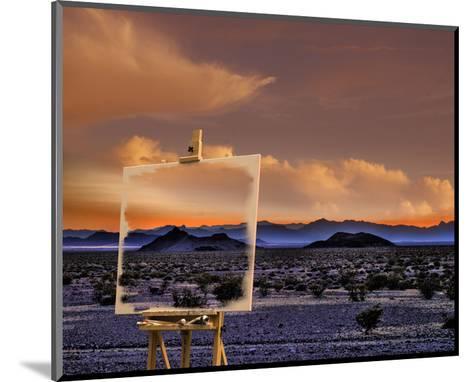 Easel in Nevada Sunset-Richard Desmarais-Mounted Art Print