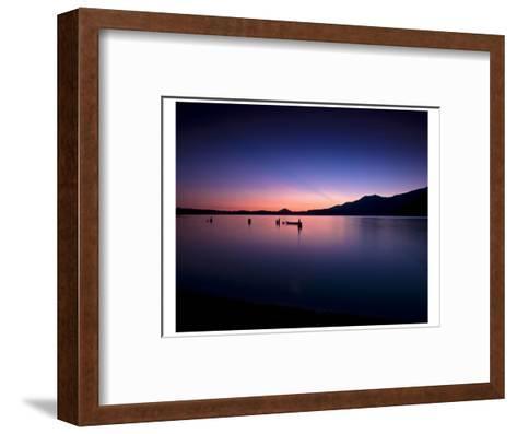 Lake Quinault Sunset-Richard Desmarais-Framed Art Print