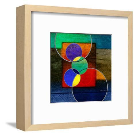 Abstract intersect IIIa-Catherine Kohnke-Framed Art Print