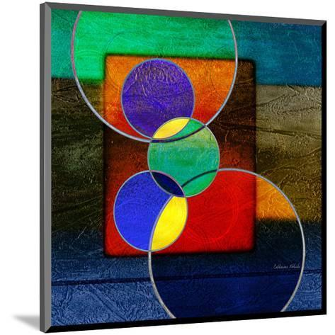 Abstract intersect IIIa-Catherine Kohnke-Mounted Art Print