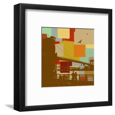 Brooklyn Bridge-Yashna-Framed Art Print