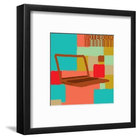 Notebook II-Yashna-Framed Art Print
