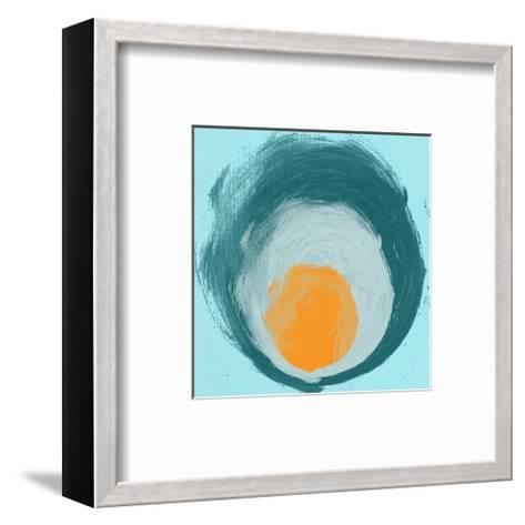 Aqua Blue Orange Elements-Irena Orlov-Framed Art Print