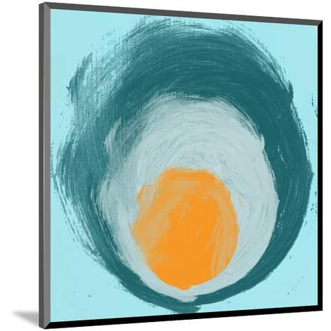 Aqua Blue Orange Elements-Irena Orlov-Mounted Art Print