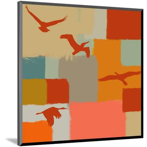 Birds I-Yashna-Mounted Art Print