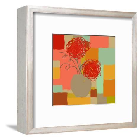 Vase of Red Flowers I-Yashna-Framed Art Print