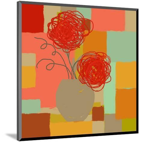 Vase of Red Flowers I-Yashna-Mounted Art Print