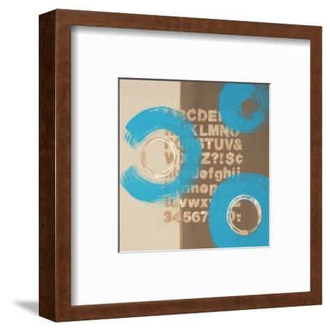 Alphabetical Blue Abstract-Irena Orlov-Framed Art Print