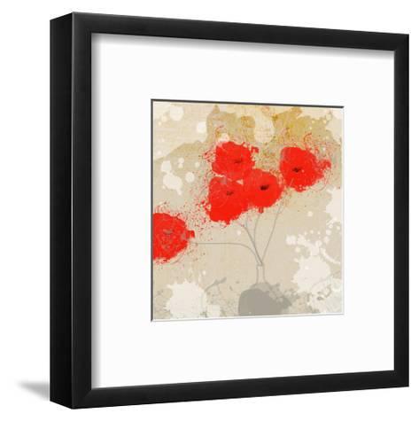 Red Abstract Bunch II-Irena Orlov-Framed Art Print
