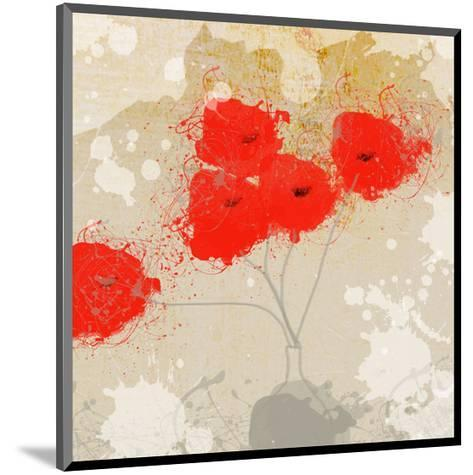 Red Abstract Bunch II-Irena Orlov-Mounted Art Print