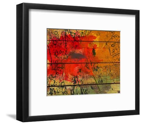 Abstract Red on Wood-Irena Orlov-Framed Art Print