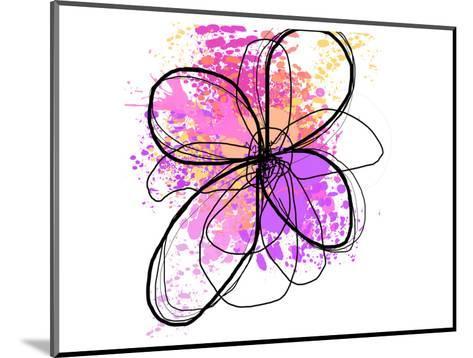 Rose Yellow Abstract Brush Splash Flower II-Irena Orlov-Mounted Art Print