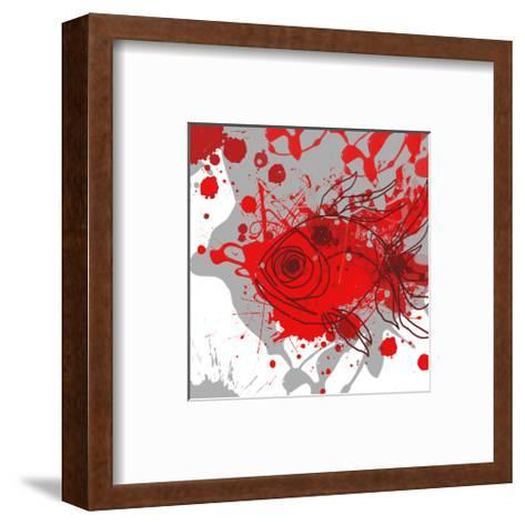 Grey-Red Fish-Irena Orlov-Framed Art Print
