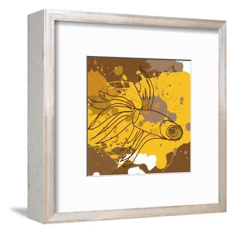 Yellow-Brown Fish-Irena Orlov-Framed Art Print