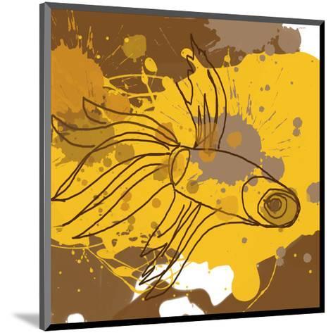 Yellow-Brown Fish-Irena Orlov-Mounted Art Print