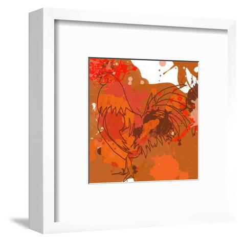 Red Rooster-Irena Orlov-Framed Art Print