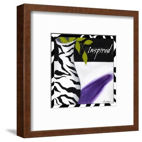 Zebra Vase-Cathy Hartgraves-Framed Art Print
