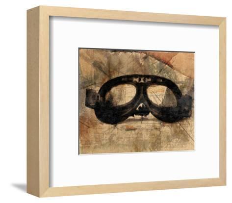 Vintage Motorcycle Glasses-Irena Orlov-Framed Art Print