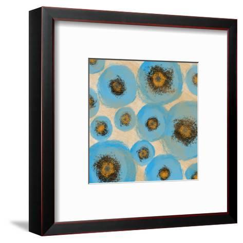 Abstract Blue swhirls-Yashna-Framed Art Print