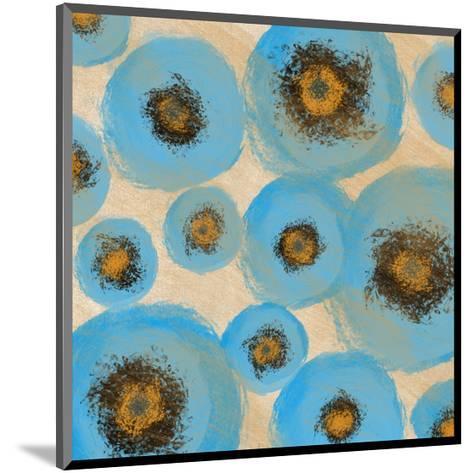 Abstract Blue swhirls-Yashna-Mounted Art Print