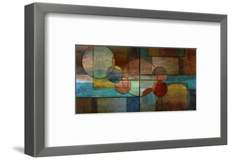 Abstract Intersections Panels II-Karin Connolly-Framed Art Print