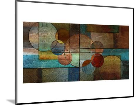 Abstract Intersections Panels II-Karin Connolly-Mounted Art Print