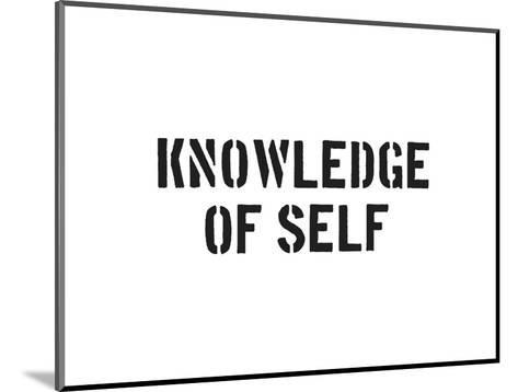 Knowledge Of Self-SM Design-Mounted Art Print