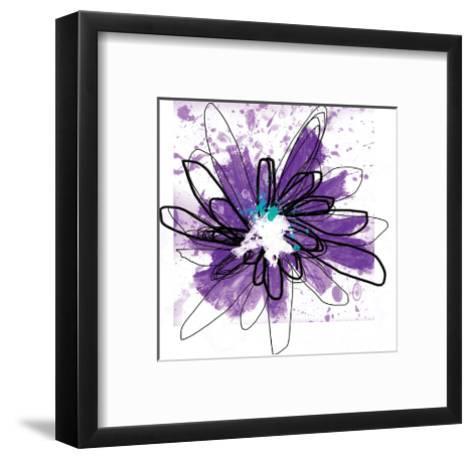 Purple Splash Flower-Elle Stewart-Framed Art Print