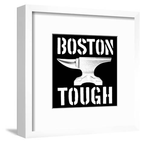 Boston Tough Black-SM Design-Framed Art Print