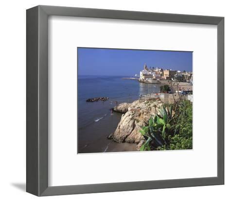 View Playa San Sebastian Spain--Framed Art Print