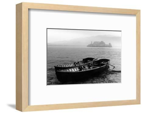 Isle of San Giulio in the Mist--Framed Art Print