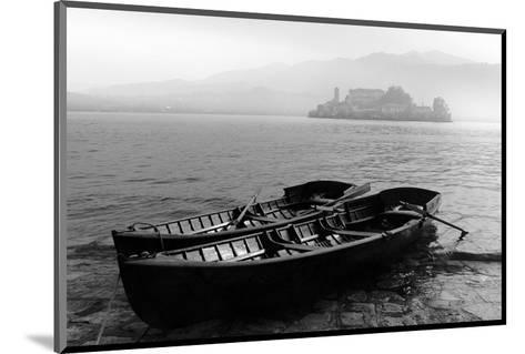 Isle of San Giulio in the Mist--Mounted Art Print